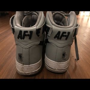 Nike Shoes - NIKE AIR FORCE ONE Gray High Top Sneakers